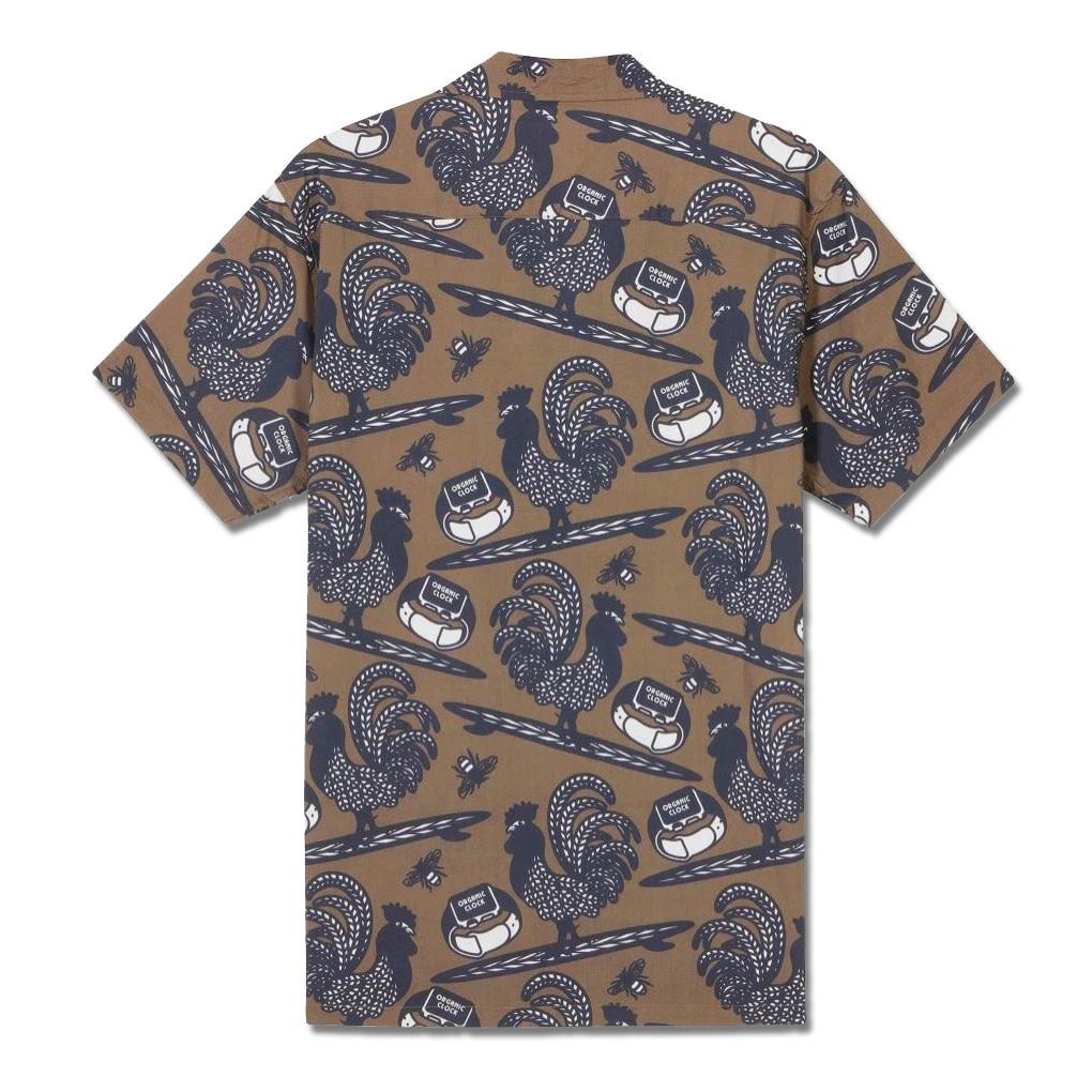 Mami Wata Surf Mami Wata Surf Men's Surfing Cockerel Shirt Brown Blue