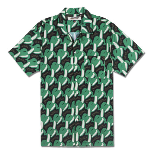 Mami Wata Surf Mami Wata Surf Men's Bananas Shirt Green Brown