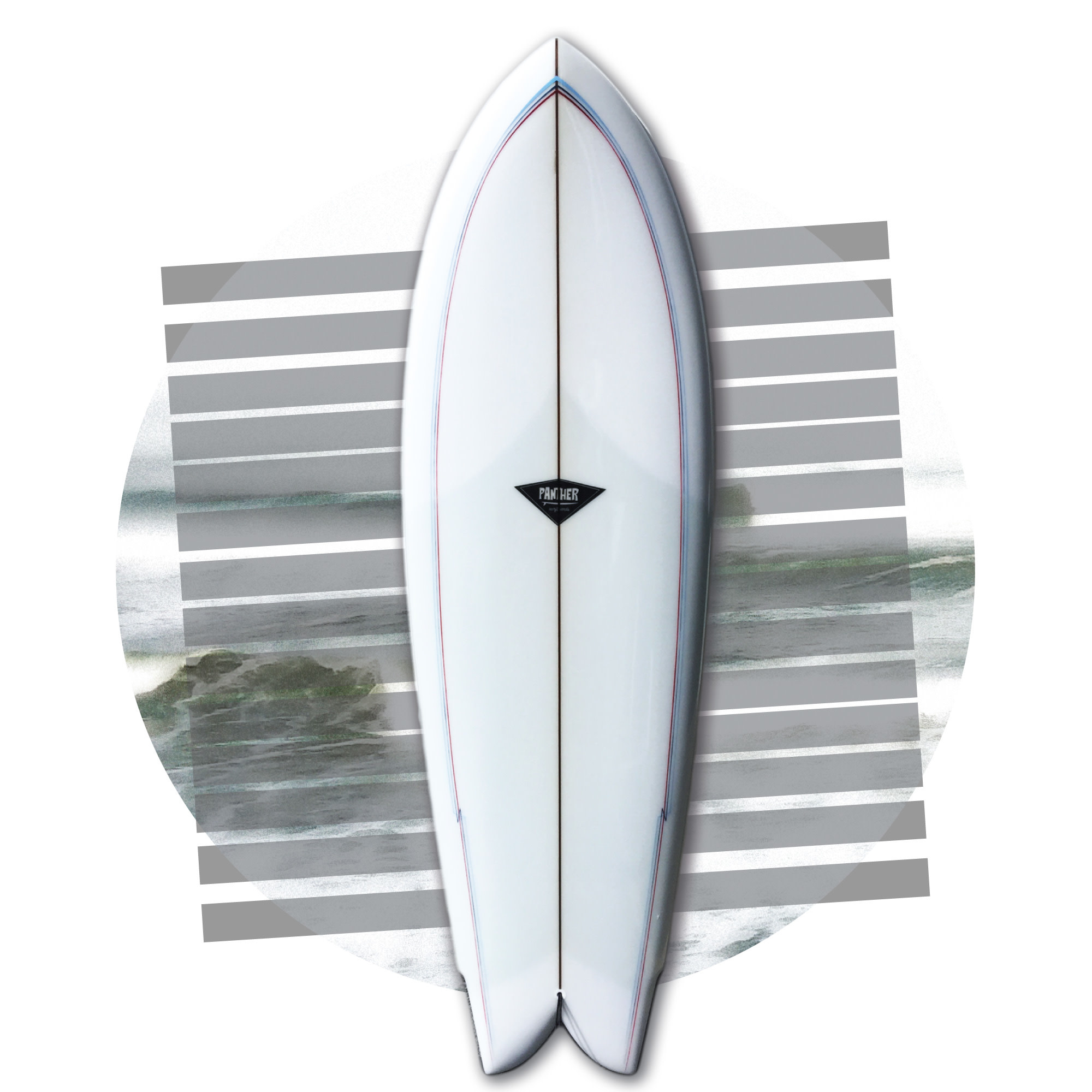 Panther Surfboards 5'6 Full volan Swallowtail Single
