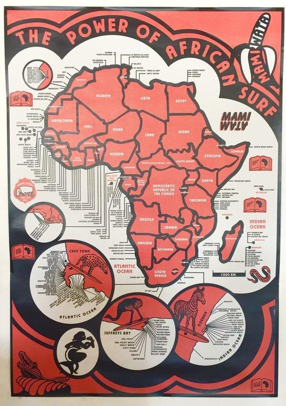 Mami Wata Surf Mami Wata Surf map poster