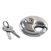 Discus slot, ronde slot, hangslot 90 mm RVS stainless steel