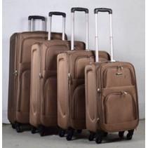 Prachtige 4 delige koffer set Coffee