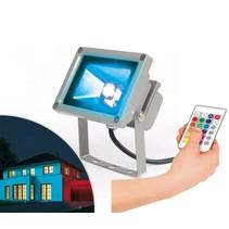 LED Spot Easymaxx 16 kleuren voor zowel binnen als buiten.
