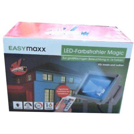 Easymaxx LED Spot Easymaxx 16 kleuren voor zowel binnen als buiten.