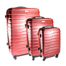 ABS koffer set, 3 delig, 4 wiel (#188) Rood, 20, 26, 28 inch