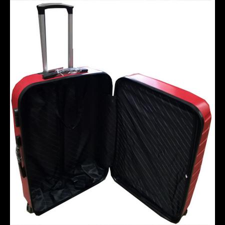 Royalty Rolls ABS koffer set, 3 delig, 4 wiel (#188) Rood, 20, 26, 28 inch