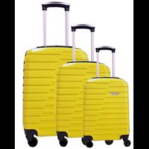 ABS koffer set, 3 delig, 4 wiel (#188) Geel 20, 26, 28 inch