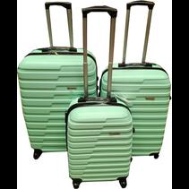 ABS koffer set, 3 delig, 4 wiel (#188) Mint Groen, 20, 26, 28 inch