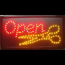 """LED bord / verlichting """"OPEN"""" met schaar"""