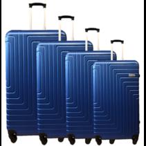 ABS koffer set, 1, 2 of 3 delig, 4 wiel (#198) Diverse kleuren
