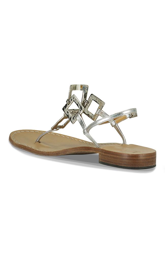 Canfora for Mala Chetty sandels Like Jackie O -Silver