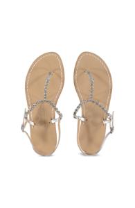 Canfora for Mala Chetty sandels Anita Strass Silver