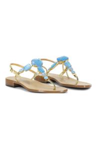 Canfora for Mala Chetty sandels Jamila Topaz Blue