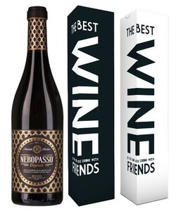 "Mabis Fles Neropasso 2016 + verpakking ""The best wine is the one..."