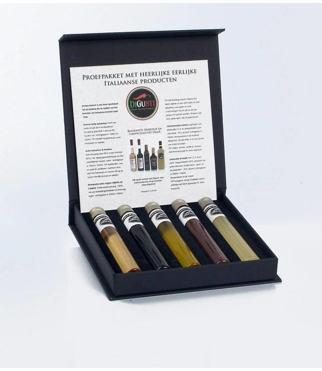 Di Gusti Proefpakket met 5 Italiaanse producten