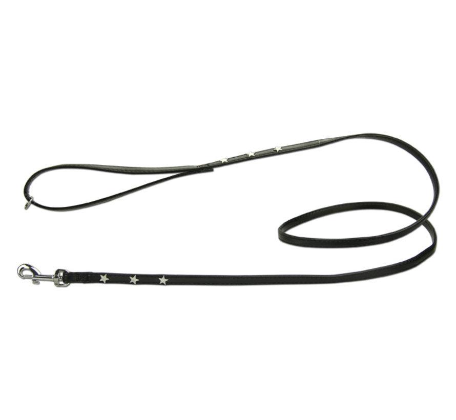 Dog Leash Twinkle Little Star Black/Silver