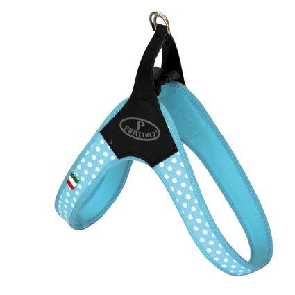 Hondentuig Blauw Polka Dot met clip