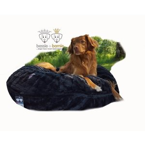 Bessie and Barnie Dog Bagel Bed Black Puma