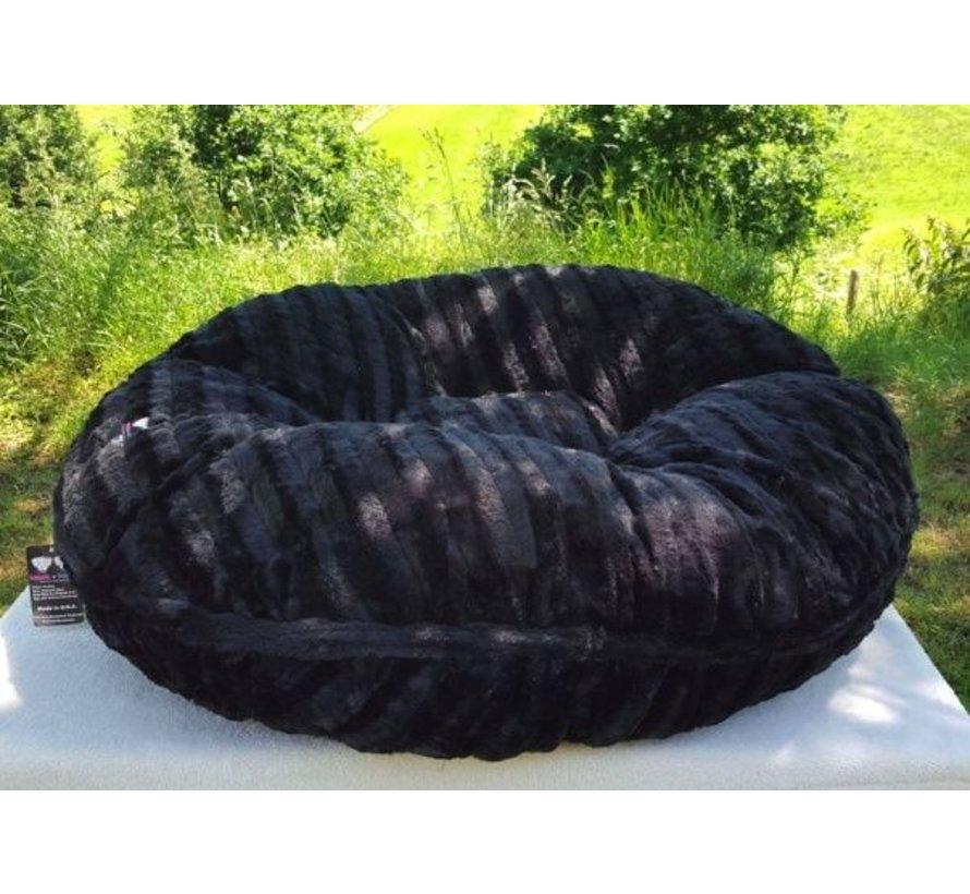 Dog Bagel Bed Black Puma