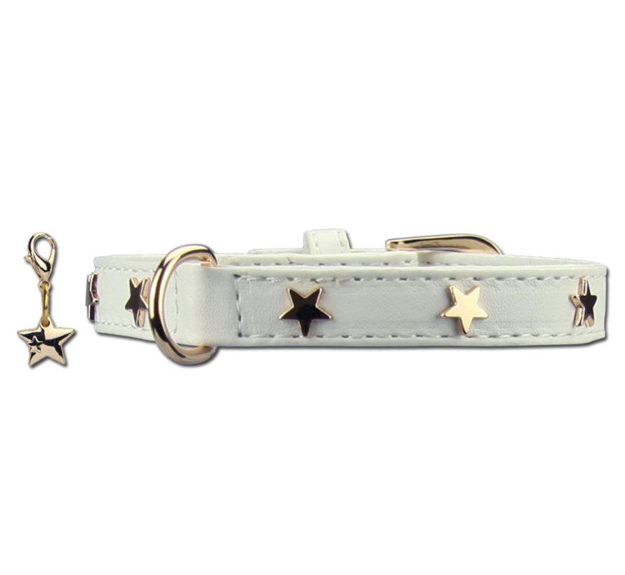 Dog Collar Twinkle Little Star White