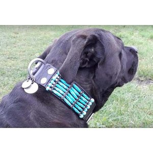 Doxtasy Dog Collar Blue River 50mm