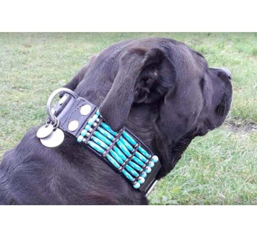 Dog Collar Blue River 50mm