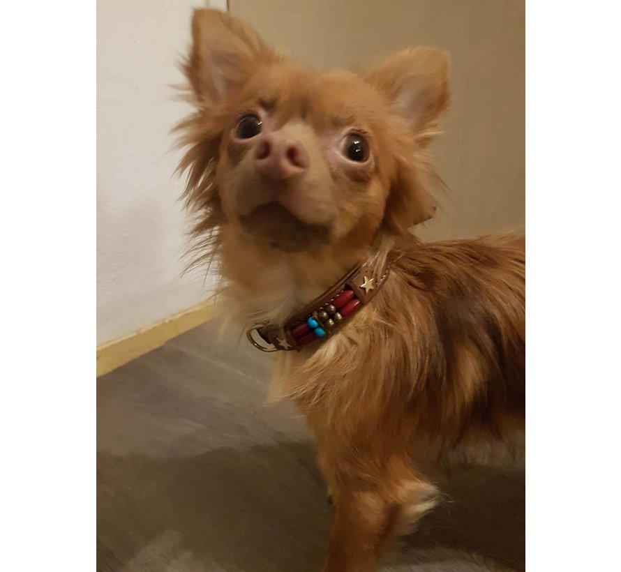Hondenhalsband Brown Fox 15mm