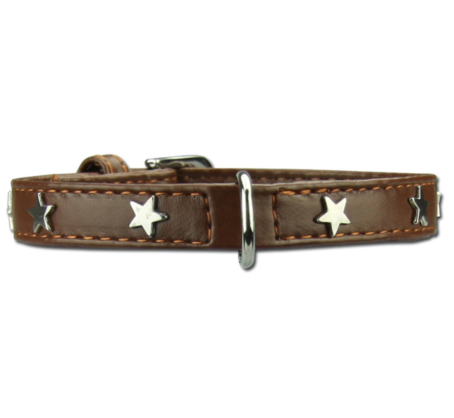 Dog Collar Twinkle Little Star Brown