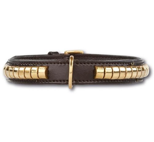 Doxtasy Dog Collar Gold Row black