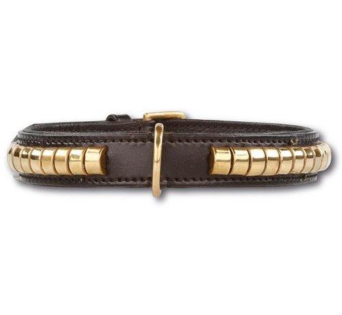 Doxtasy Hondenhalsband Gold Row Black