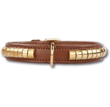 Doxtasy Dog Collar Gold Row Brown