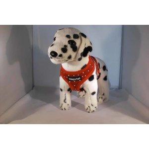 Wagytail Dog Harness red with Swarovski