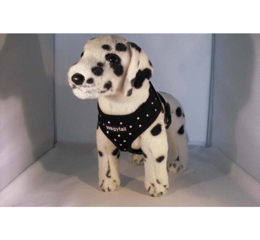 Hondentuig Zwart met Swarovski