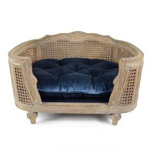 Lord Lou Cat Bed Arthur Royal Blue Velvet