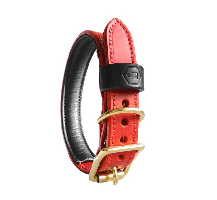 Dog Collar Bridle Leather Oxblood Red