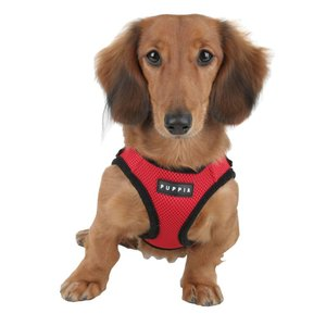 Puppia Soft DoHarness Red