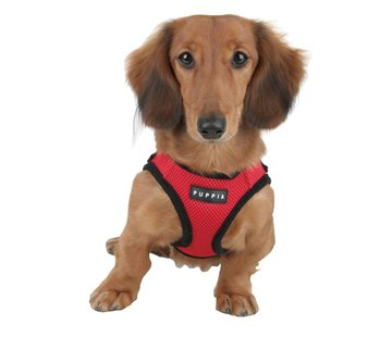 Puppia Hondentuig Soft Harness Rood