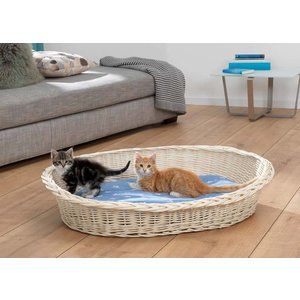 Silvio Design White Wicker Cat Bed