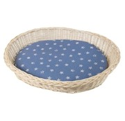 Silvio Design White Wicker Dog Bed