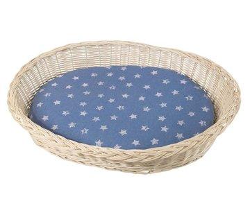 Silvio Design White Wicker Dog Bed
