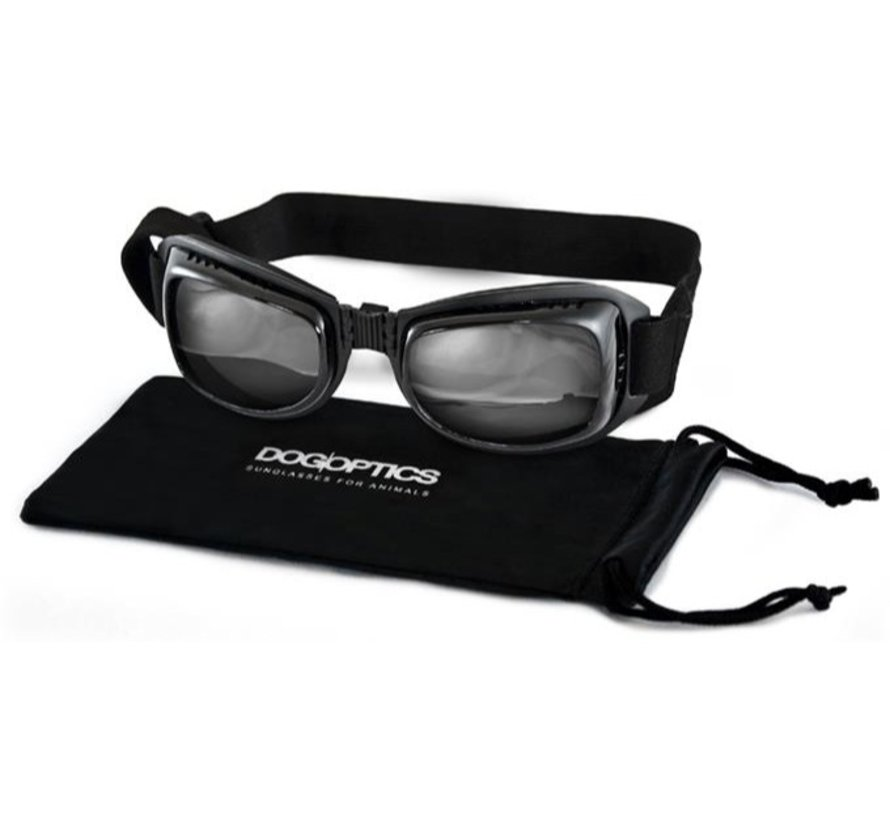 Biker Dog Sunglasses Black Frame