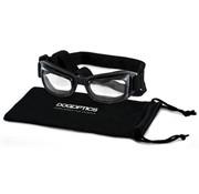 Dogoptics Hondenzonnebril Biker Black Frame Clear Lens