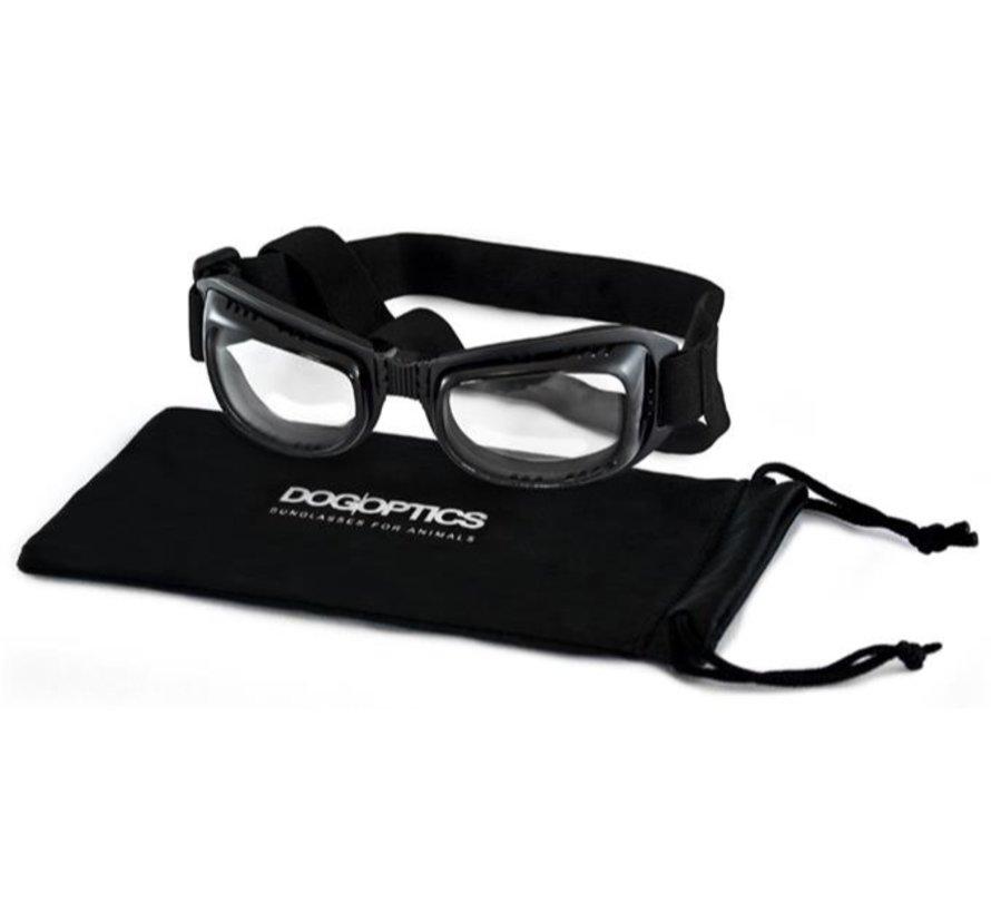 Hondenzonnebril Biker Black Frame Clear Lens