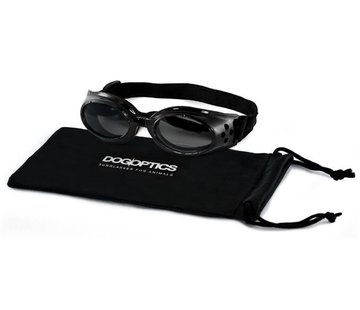 Dogoptics Hondenzonnebril Biker Black frame/Mirror lens