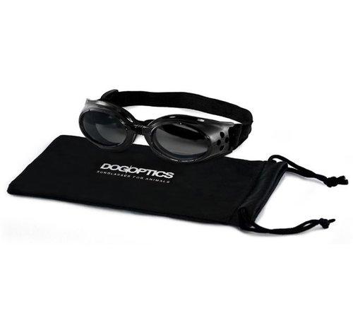 Dogoptics Dog Sunglasses Biker Black frame/Mirror lens