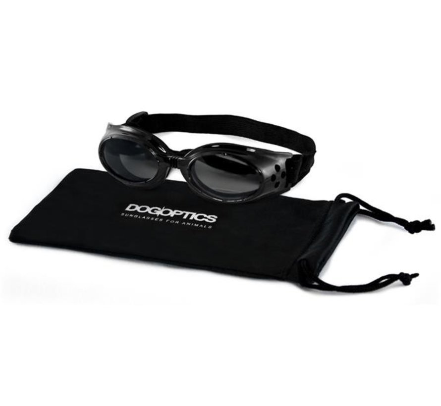 Dog Sunglasses Biker Black frame/Mirror lens