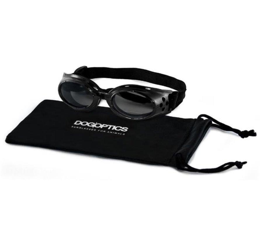 Hondenzonnebril Biker Black frame/Mirror lens