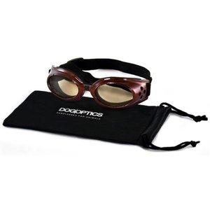 Dogoptics Hondenzonnebril Biker Brown frame/Brown lens