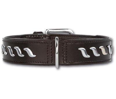 Doxtasy Dog Collar Silver Wave