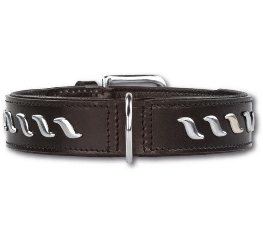 Dog Collar Silver Wave